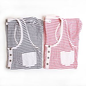 *BUNDLE* 2 Madewell Henley Striped Tank Tops XS/S